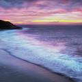 Daybreak At Caswell Bay by Leighton Collins