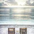 Daydreaming By The Sea In Watercolors by Debra and Dave Vanderlaan