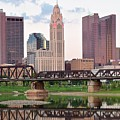Daytime View Of Columbus Over The Scioto by Frozen in Time Fine Art Photography
