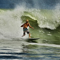 Daytona Beach Surfing Day by Deborah Benoit