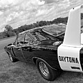 Daytona Charger In Black And White by Gill Billington