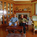 Db6362 Ed Cooper With Fred Beckey In Library 2013 by Ed Cooper Photography