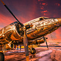Dc-3 In Surreal Evening Light by Philip Rispin