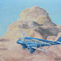 de Havilland Dragon Rapide by Elaine Jones