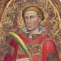 Deacon Saint, With Saint Anthony Abbot by Martino di Bartolomeo