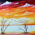 Dead Trees Reflection by Deepa Sahoo