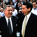 Dean Smith And Mike Krzyzewski by Brian Reaves