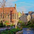Dean Village, Edinburgh, Scotland by Karol Kozlowski