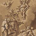 Death Of A Holy Friar by Follower Of Francesco Fontebasso