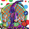 Death Takes His Bunny Friends To The Circus by Clown Coffins