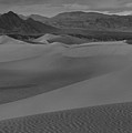 Death Valley Dunes Black And White Panorama by Adam Jewell