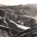 Death Valley Zabriskie Point Sepia by Gregory Dyer
