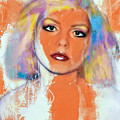 Debbie Harry - Orange Funky Grunge by Felix Von Altersheim