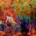 Decadent Urban Red Wall Grunge Abstract by Georgiana Romanovna