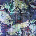 Decadent Urban White Splashed Bricks Grunge Abstract by Georgiana Romanovna