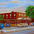Decarie  Tasty  Food  Pizza by Carole Spandau
