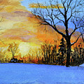 December Sunset by C Keith Jones