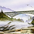 Deception Pass Bridge by James Williamson