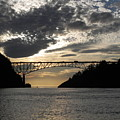 Deception Pass Bridge Sunset Two by Leslie Wright