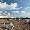Deckchairs On Brighton Beach by Neil Overy