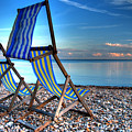 Deckchairs On The Shingle by Rob Hawkins