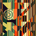 Deco Abstract 1  by Chuck Staley