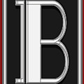 Deco Cafe Marquee  Monogram  Letter B by Cecely Bloom