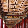 Decorated Columned Hall Of A Chinese Temple by Yali Shi