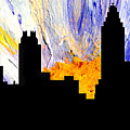 Decorative Abstract Skyline Atlanta T1115a1 by Mas Art Studio