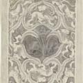 Decorative Design With Leaf Motif, Carel Adolph Lion Cachet, 1874 - 1945 by Carel Adolph Lion Cachet