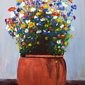Impressionist Wildflower Garden Painting A103017 by Mas Art Studio