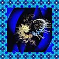 Decorative Fractal Tile 3 by Sarah Loft