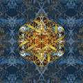 Decorative Gemstone Sacred Geometry Flower Of Life   by Creativemotions