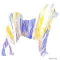 Decorative Husky Abstract O1015q by Mas Art Studio