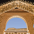 Decorative Moorish Architecture In The Nasrid Palaces At The Alhambra Granada Spain by Mal Bray