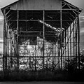 Decrepid Barn Black And White by Paul Gibson