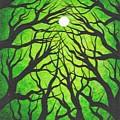 Deep Green Forest by Jordanka Yaretz