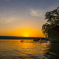 Deep Orange Sunset Over Keuka Lake by Photographic Arts And Design Studio