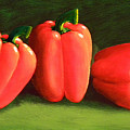 Deep Red Peppers by Frank Wilson