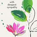 Deepest Sympathy Daisy- Art By Linda Woods by Linda Woods