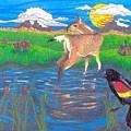 Deer Blessing by Lightning Horse Studio