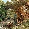 Deer By A River by Gustave Courbet
