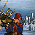 Deer Friends Of Finland by Paul Meijering
