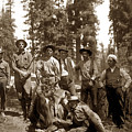 Deer Hunters  With Rifles Circa 1917 by California Views Archives Mr Pat Hathaway Archives