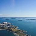 Deer Island In Boston Harbor 14bosl027 by Howard Stapleton