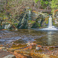Deer Leap Falls  by Angelo Marcialis Melody Of Light Photography