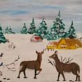 Deer Scene by Jan Marie