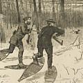 Deer-stalking In The Adirondacks In Winter by Winslow Homer