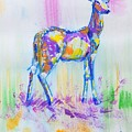 Deer With Antlers Painting by Mike Jory