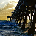 Deerfield Beach Pier At Sunrise by Paul Cook
